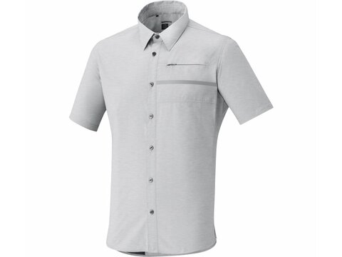 Shimano Transit Short Sleeve Check Button Up Trikot Alloy S