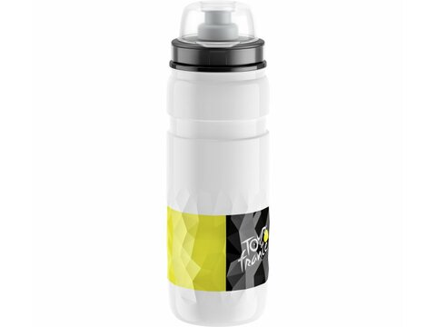 Elite Trinkflasche Fly Tour de France 2019 550 ml / weiß (Thermo)