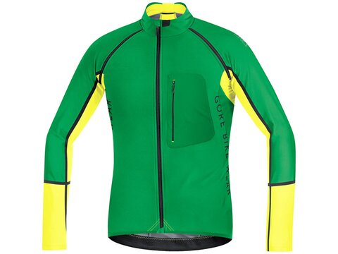 Gore Alp-X Pro WS SO Zipp-Off Trikot, fresh green / cadmium yellow