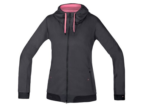 Gore Power Trail Lady WS Soft Shell Hoody, braun/schwarz